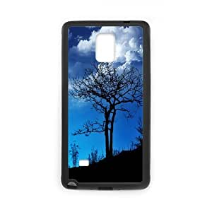 Evekiss Branch Samsung Galaxy Note 4 Cases Morning Branches Design for Men, Case for Samsung Galaxy Note4, [Black]