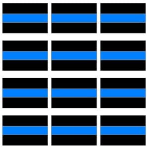 Graphics and More Thin Blue Line Decal Sheet of 4 Window Bumper Laptop Stickers Police