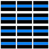 Thin Blue Line Sheet of 12 Window Bumper Sticker Graphics and More