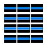 Thin Blue Line Sheet of 12 - Window Bumper Sticker