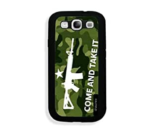 Galaxy S3 Case - Galaxy S III Case - Springink Black Green Come And Take It Samsung Galaxy i9300 Case Snap On Case