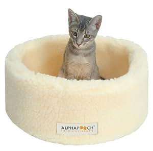 Amazon.com : AlphaPooch Siesta Round Fleece Cat Bed