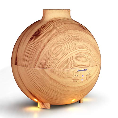 Aromacare Large Essential Oil Diffuser for Large Room 600ml, Aroma Diffuser/Cool Mist Humidifier for Aromatherapy,Quiet,Dark Wood Grain,Last 12 Hours 41vijR 2BfSjL
