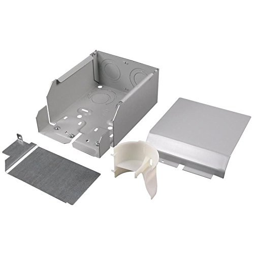 Wiremold G4010DFO Divided Entrance End Fitting Steel Gray For Use With 4000 Series Multi-Channel Surface Raceway by Wiremold