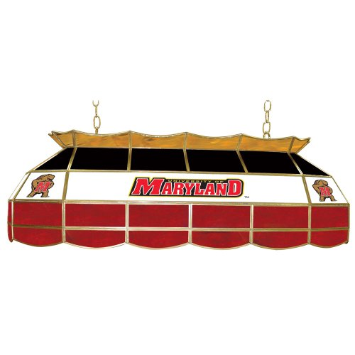 NCAA University of Maryland Tiffany Gameroom Lamp, (Ncaa Maryland Terrapins Sports Table)