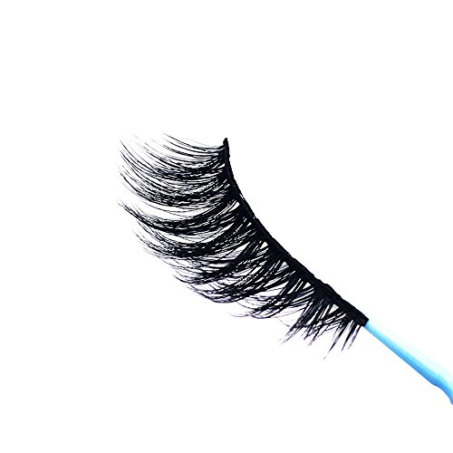 1Pair Luxury 3D False Lashes Fluffy Strip Eyelashes Party Long Natural False Lashes WEISUN (1Pair, Black)