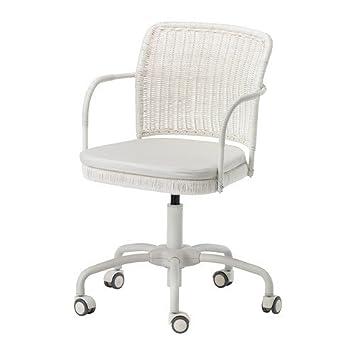 Schreibtischstuhl weiß ikea  IKEA GREGOR - Drehstuhl, weiß Vittaryd, Blekinge weiß - 300 m ...