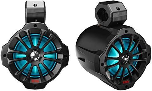 BOSS Audio Methods B62RGB ATV UTV Weatherproof Waketower Speaker System – Amplified, 750 Watts Per Pair, 6.5 Inch Audio system, Full Vary, 2 Means, Bluetooth, RGB Led Illumination, IPX5 Weatherproof, Bought