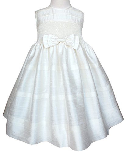 Beautiful Ivory Silk Dupioni Girls Dress for Flower Girls or Pageants by Carouselwear