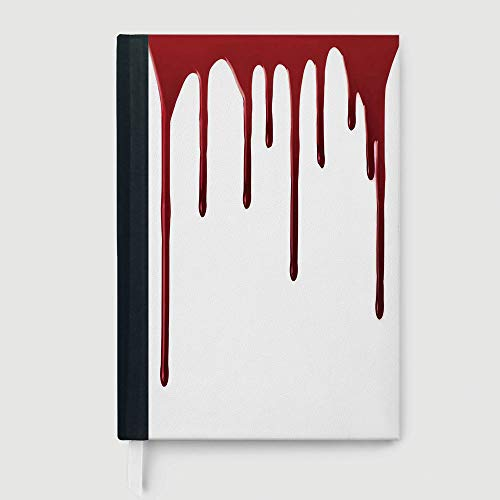 Horror,College Ruled Notebook/Composition/Journals/Dairy/Office Note Books,Flowing Blood Horror Spooky Halloween Zombie Crime Scary Help me Themed Illustration,96 Ruled Sheets,B5/7.99x10.02 in
