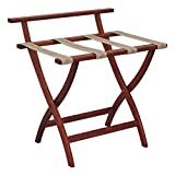 Offex OF-LR4-MHTAP WallSaver Luggage Rack With Tapestry Webbing, Mahogany