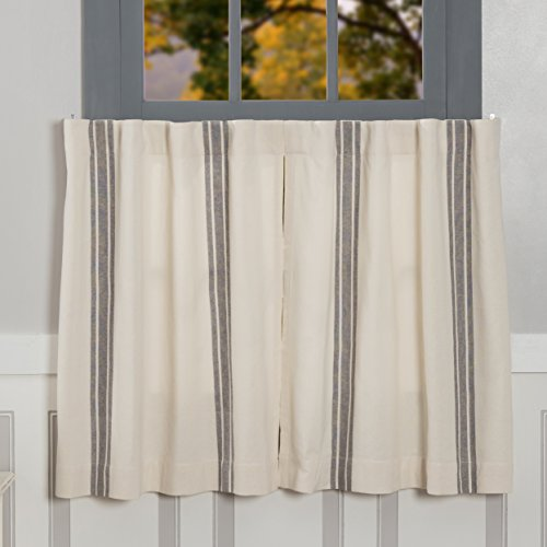 (Piper Classics Market Place Gray Grain Sack Stripe Tiers, Set of 2, 24