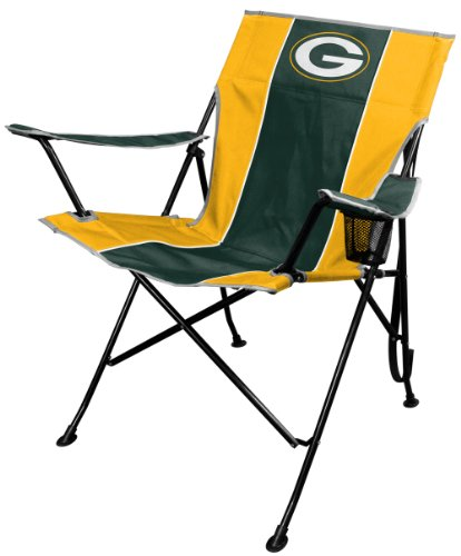 Green Bay Packers Garden (NFL Portable Folding Tailgate Chair with Cup Holder and Carrying Case)