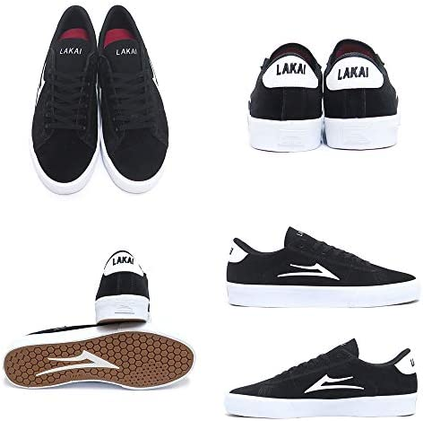 [ラカイ] SHOES シューズ スニーカー NEWPORT 黒/白 BLACK/WHITE SUEDE スケートボード スケボー SKATEBOARD