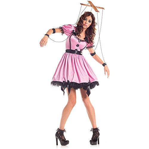 Marionette Puppet Costumes (Pink Marionette Adult Costume - Large)