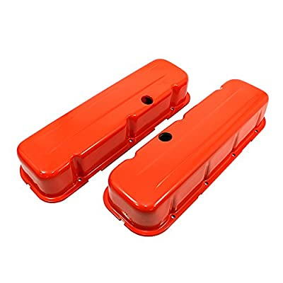 Assault Racing Products A9235-PO Big Block Chevy Orange Steel Tall Valve Covers BBC 396 427 454: Automotive