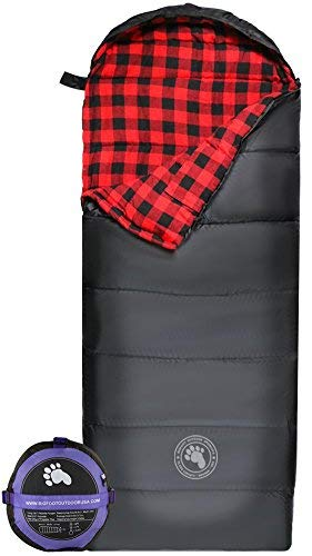 Bigfoot Outdoor Products Lumberjack XL Envelope Sleeping Bag 450GSM - Red Flannel