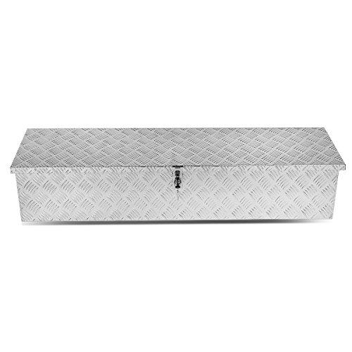 DNA Motoring TBOX-T1-48-ALU Rear Truck Bed Trailer Key Lock Aluminum Storage Tool Box
