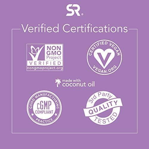 Biotin 5000mcg with Organic Virgin Coconut Oil | Hair, Skin & Nails | Vegan Certified & Non-GMO Verified (120 Veggie softgels)