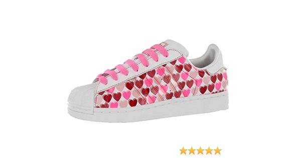 Amazon.com | Adidas Women's Superstar 2 Hearts Casual Shoe Pink ...