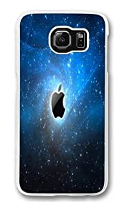 Apple Galaxy Blue Polycarbonate Hard Case Cover for Samsung S6/Samsung Galaxy S6 Transparent