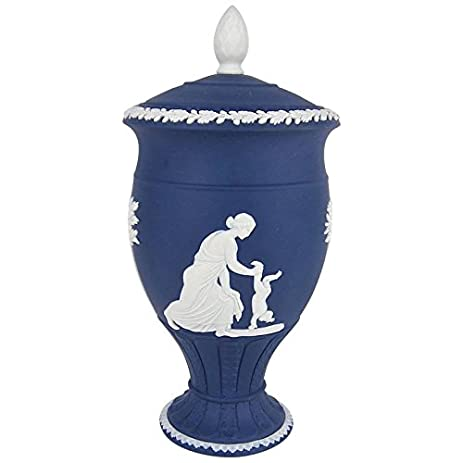 Amazon Wedgwood Achilles Classical Covered Urn In White On