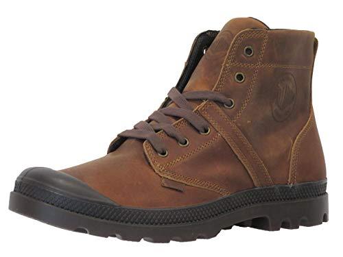 Palladium Men's Pallabrouse lea 2 Leather Combat Boot (9, Sunrise/Chocolate)