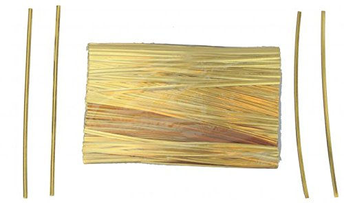 7'' Gold Metallic Ties - 500 Per Bag (15 Bags) - 7-GM