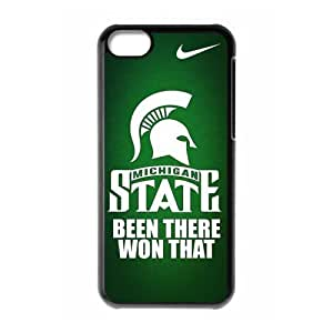 DIY Design Dream 5 Sports NCAA Michigan State Spartans Print Black Case With Hard Shell Cover for Apple iPhone 6 plus 5.5-Just DO It