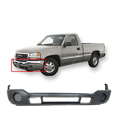 MBI AUTO - Primered, Front Lower Bumper Cover Fascia Valance for 2003-2007 GMC Sierrra 1500 2500 HD 03-07, -