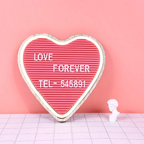 Finedayqi  LED Pink Heart-Shaped Custom Letter Display Notice Message Board
