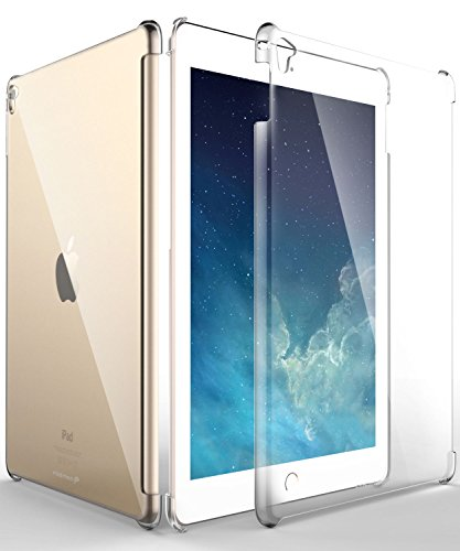 iPad Pro 9.7 Case, Fosmon slim [Transparent Crystal Clear] Hard Smart Cover Companion Case for Apple iPad Air 2 2014 / iPad Pro 9.7 inch 2016 (Plastic Back Shell Cover)