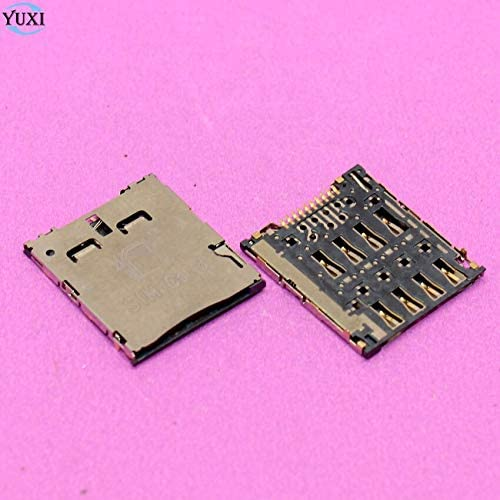 Generic YuXi 2pcs Sim Card Reader Holder Slot Socket Connector for ASUS K004 Memo Pad 7 ME170 ME170C K012 for Samsung C101 I8730