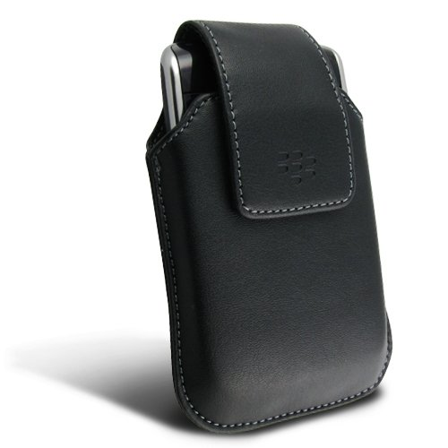 2 Pieces Value Combo of OEM Swivel Leather Holster with Belt Clip HDW-19819-001 and Desktop Charging Cradle ASY-14396-008 for Blackberry Storm (Thunder) 9500 / 9530, by (Blackberry Desktop Cradle)