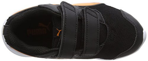 Puma escaper Mesh V PS, Zapatillas de Running Unisex Niños Negro (Puma Black-vibrant Orange-puma Black)