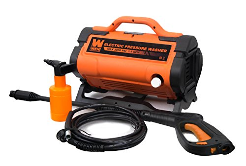 WEN PW19 2000 PSI 1.6 GPM 13-Amp Variable Flow Electric Pressure Washer,...