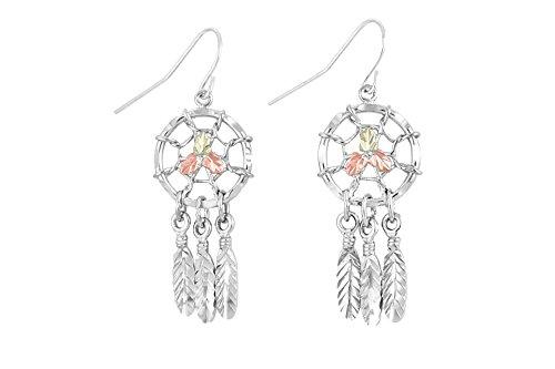 Black Hills Silver Dangle Dreamcatcher Earrings