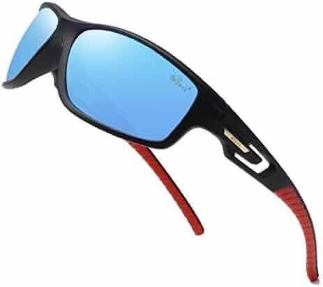 6d2bcb71c04 Bevi Polarized Sports Sunglasses TR90 Unbreakable Frame for Men Women  Running Cycling
