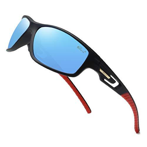 da9759fa9bad Bevi Polarized Sports Sunglasses Unisex Grilamid TR90 Frame for Men Women  Running Cycling 2516C4