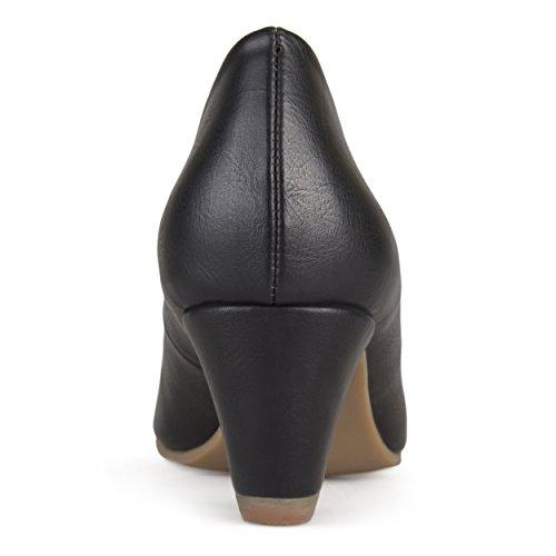 Journee Collection Dames Comfort Fit Ronde Neus Klassieke Pumps Zwart