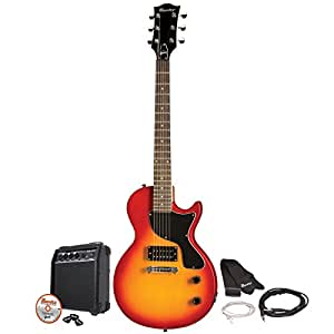 gibson maestro single cutaway electric guitar cherry sunburst with amp and. Black Bedroom Furniture Sets. Home Design Ideas