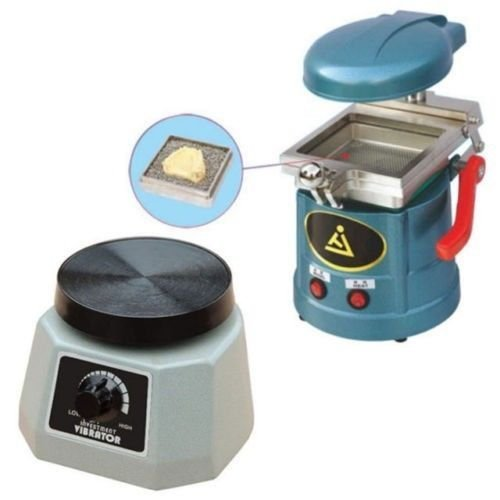 Minday Dental Lab Vacuum Forming Molding Former Machine + Round Vibrator Vibrating by Minday (Image #1)