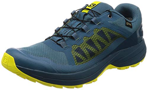 - Salomon Men's XA Elevate GTX Sneaker, Mallard Blue/Reflecting Pond/Sulphur Spring