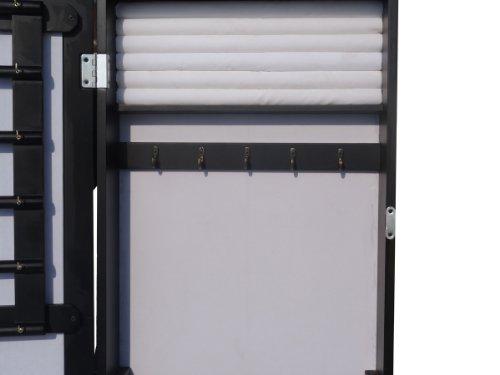 Schmuckschrank Spiegelschrank in Schwarz DS909S -