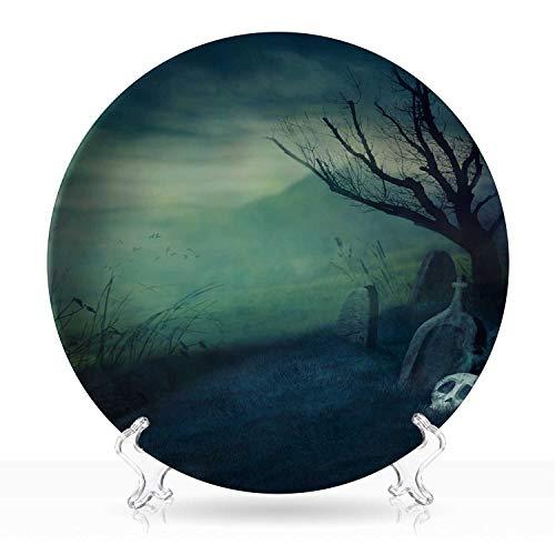 Halloween Graveyard Desserts (Halloween graveyard,White Plates 140525 Dessert Plates)