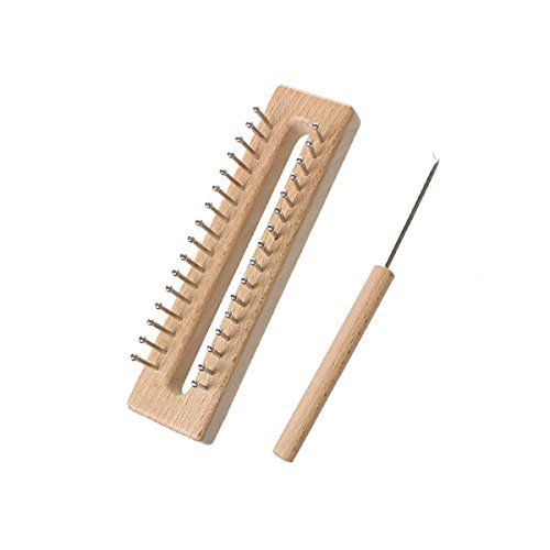 Quiltrite Wooden Board Knitting Loom Easy Weaving Tool for Handmade Crafts Needlework