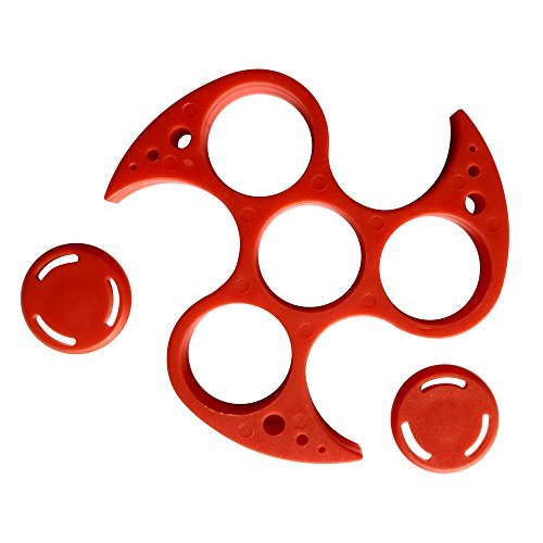 willsa-new-fashion-without-608-bearing-frame-shell-for-tri-spinner-hand-spinner-edc-fidget-toy-red