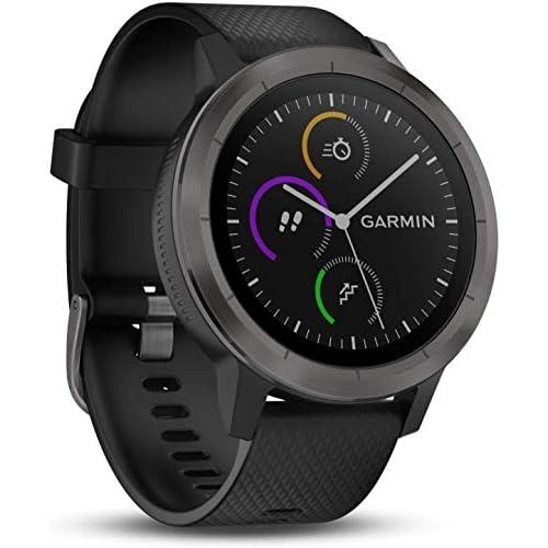 chollos oferta descuentos barato Garmin Vivoactive 3 Smartwatch con GPS y pulso en la muñeca Negro Gunmetal M L