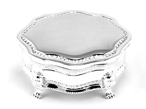 Skyway Madeline Silver Trinket Jewelry Box Storage Holder - Engravable
