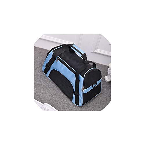 Pet-Carriers Pet Backpack Messenger Carrier Bags Cat Dog Carrier Outgoing Travel Packets Breathable Pet Handbag,Blue,48X26X31Cm